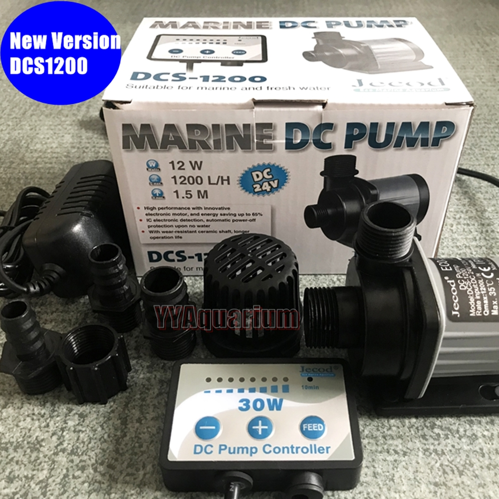 JEBAO Jecord DCS1200 SUBMERSIBLE WATER PUMP W/ ADJUSTABLE CONTROLLER FISH MARINE FOUNTAIN IMPELLER DC PUMP QUIET 110 240V 1200LH