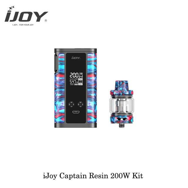 , electronic cigarettes iJoy Captain Resin 200W TC Box Mod Kit Dual 20700/18650 Battery Captain Resin Mesh Vaporizer Vape VS PD270