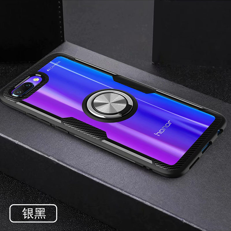HTB1GUgfXZfrK1Rjy1Xdq6yemFXa8 Finger Ring Kickstand Case for Huawei Honor 10 7X Play TPU Bumper Car Magnetic Acrylic Case PC Hard Cover for Honor 7X 10 Coque