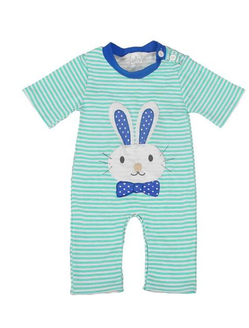 Easter Day Baby Boy Clothes Baby Striped Rompers Boys Newborn Bunny Clothes  Jumpsuits Short Sleeve Romper BPF712-005 2e958116d6a8