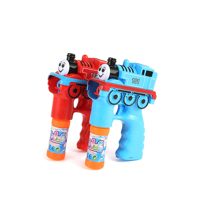Toys Thomas Automatic Electric Water Gun Soap Blow Bubbles Gun Machine Music Light Outdoor Kids Game Bubble arma de brinquedo