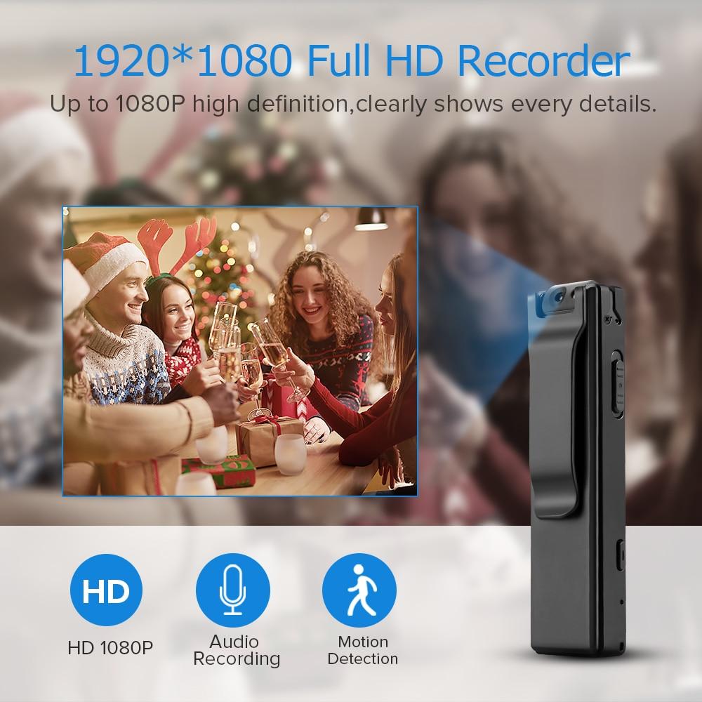Vandlion A3 Body Camera Mini Digitale Hd Camera Micro Cam Magnetische Motion Snapshot Zaklamp Loop Recording Camcorder Video Cam 2