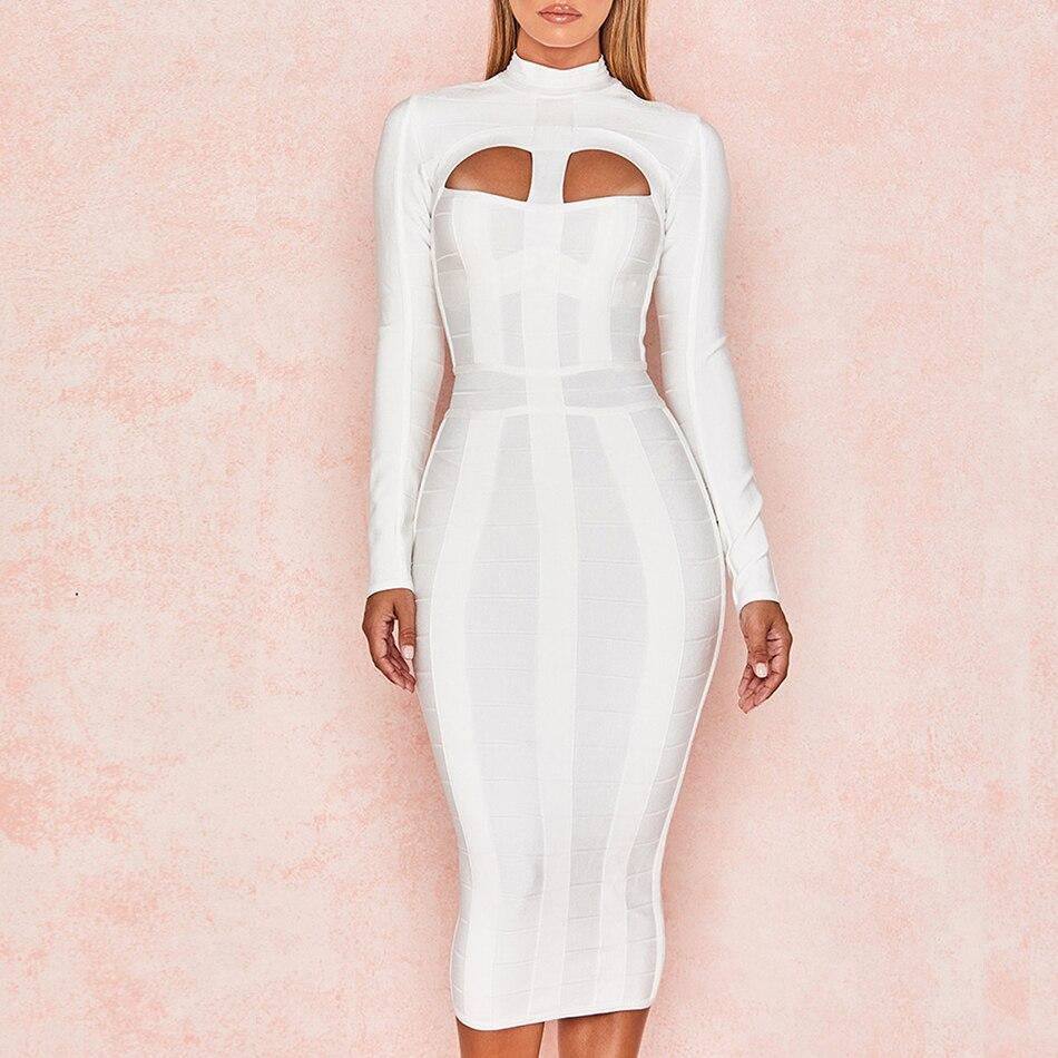 Vestido blanco de noche largo