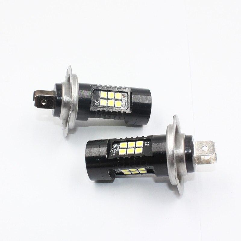 FSTUNING 2x H7 Auto Leds Für Autos DRL treibenden licht 21SMD CANBUS nebel lampe Fehler Freies 3535 10W 12V 6000k LED Auto Weiß Nebel licht