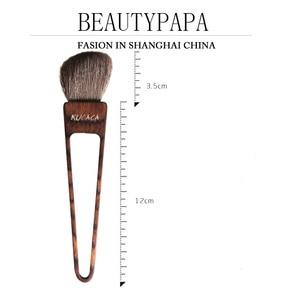 Image 5 - Beautypapa Juego de brochas de maquillaje, diseño de triángulo, pelo de cabra, colorete, sombra de ojos, profesional, hecho a mano