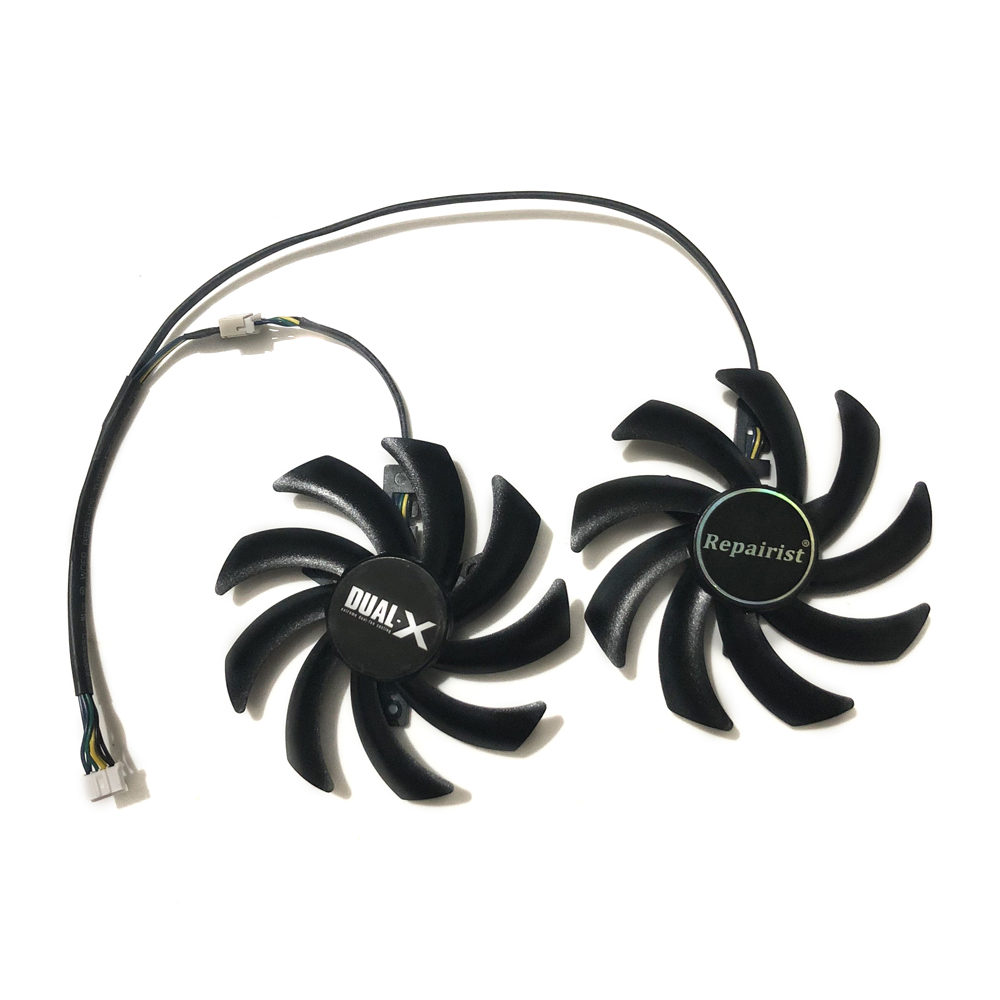 2Pcs/set GTX1070 <font><b>GTX1070ti</b></font> GPU VGA Card Cooler Fan for Gainward <font><b>GeForce</b></font> GTX 1070/1060/1070ti graphics card as replacement image