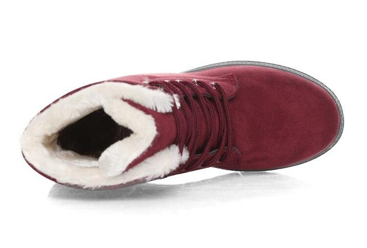 Women's High Heels Plush Winter Boots 28