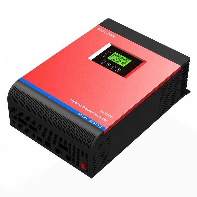MAYLAR @ 48VDC 4000VA пиковая мощность 8000VA ВКЛ ВЫКЛ сетка Гибридный инвертор Встроенный 60A MPPT контроллер ЖК дисплей