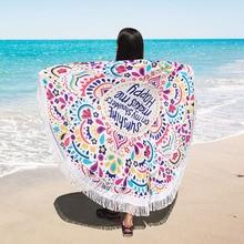 Парео Пляж Cover Up круглый пляжное полотенце туники для пляжа одеяло для пикника Кемпинг Хлопок песок Mayo Tapete Тельо Маре Moda Praia
