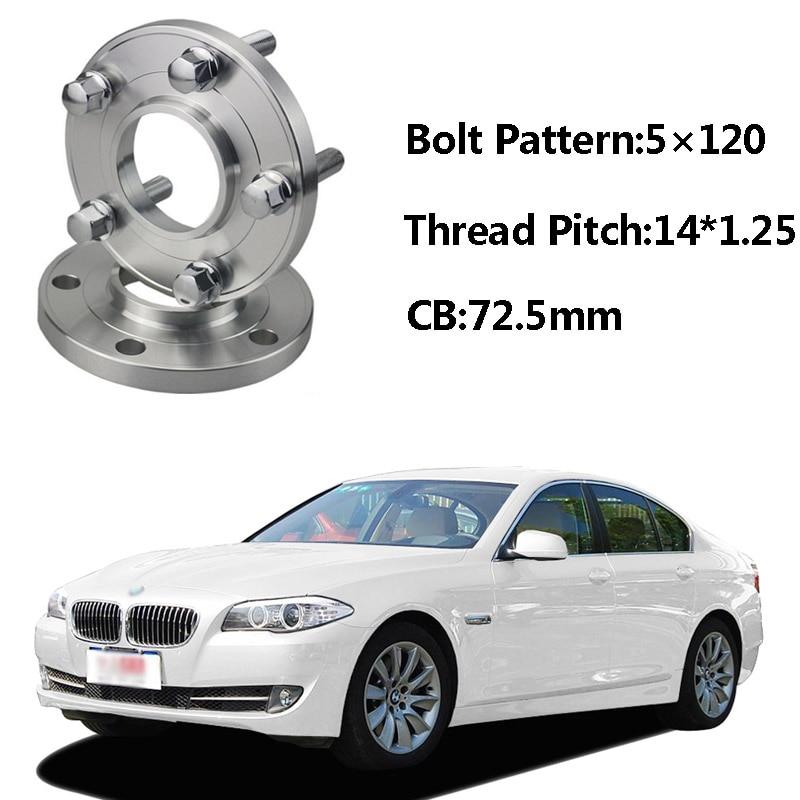 E F01 F02 BMW SERIE 7 KIT 4 DISTANZIALI RUOTE 16 MM 2008-/> CON BULLONI