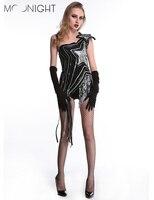 MOONIGHT noir mode femmes performance vêtements Dj chanteuse combinaison ds costume sexy Salopette jazz vêtements de danse