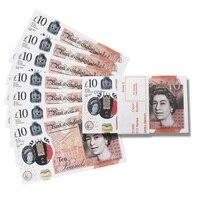 Реквизит деньги реалистичные Великобритания фунтов GBP британский английский банк 100 10 заметок идеально подходит для фильмов рекламы в соци...