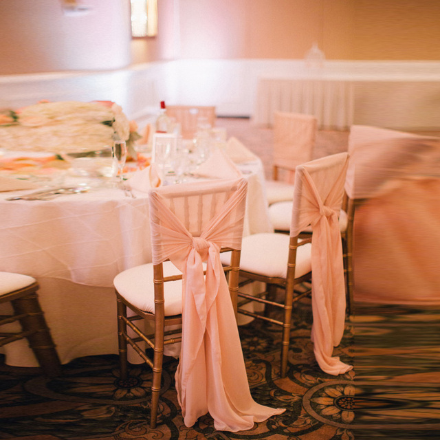 10 Pieces Smooth Wedding Chair Sash Pink Wedding Banquet Venue Wedding Decoration Cheap Elegant Chair Sashes Party Decoration
