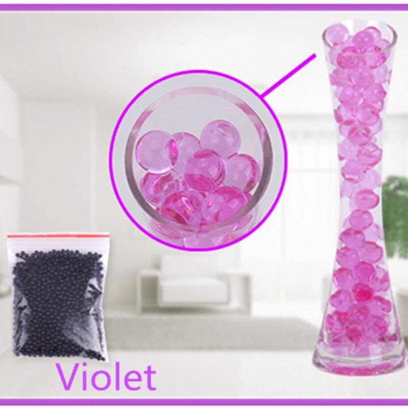 Purple Color 100pcs/bag Pearl Shaped Crystal Soil Water