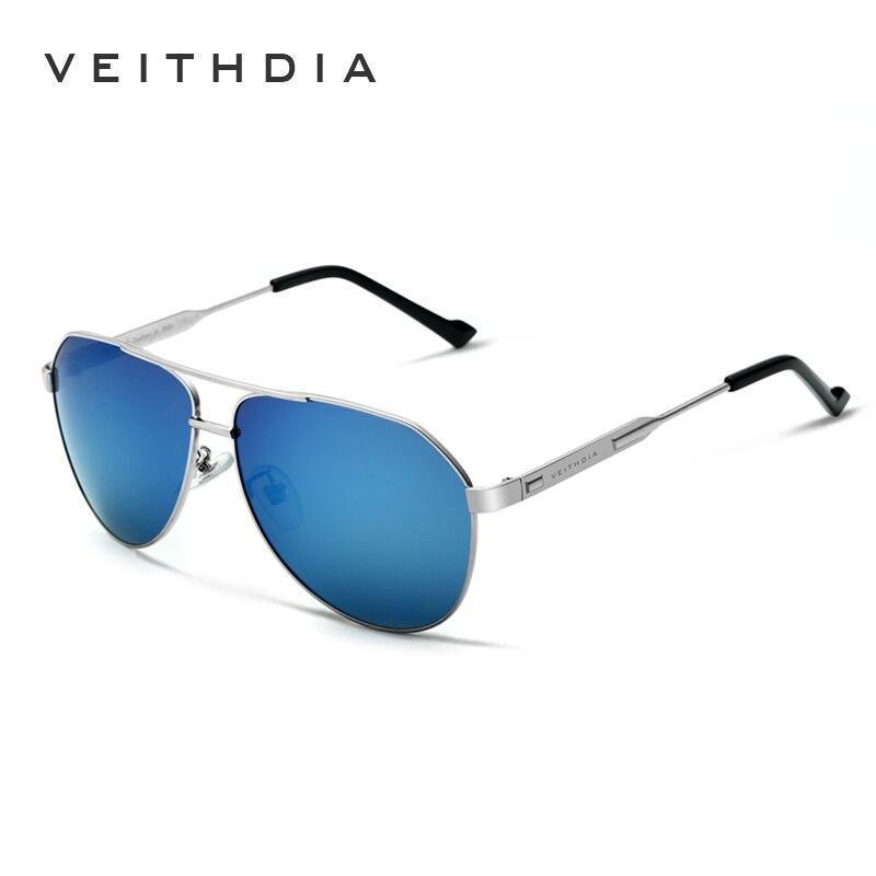 VEITHDIA Marka Tasarımcısı erkek Güneş Gözlüğü Polarize Ayna - Elbise aksesuarları - Fotoğraf 3