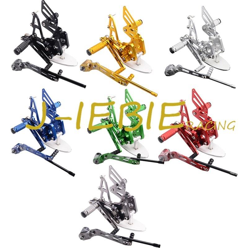 CNC Racing Rearset Réglable Ensembles Arrière repose-pieds Fit Pour Suzuki GSXR600 GSXR 600 GSXR750 GSXR 750 2006 2007 2008 2009 2010 K6