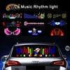 OKEEN – autocollant égaliseur de musique 90x25cm, lumière néon pour le rythme de la musique de voiture, lampes de décoration de voiture LED