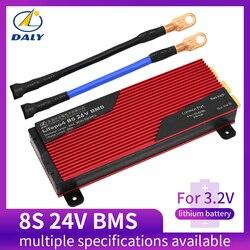 Daly 3.2 v vida po4 8 s 24 v 80a 100a 200a 18650 pcm bms placa de proteção da bateria com módulo equilibrado da bateria de lítio