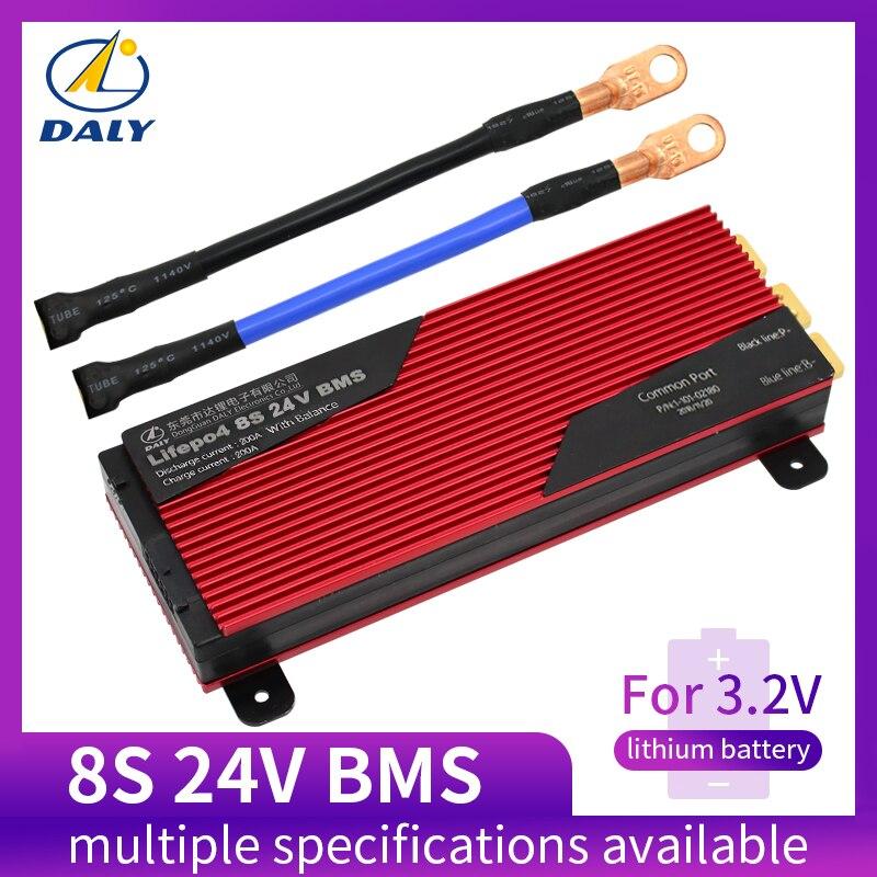 Equilibrado da Bateria de Lítio Bms da Proteção da Bateria de Daly Pcm com Módulo Placa s 24 80a 100a 200a 18650 Lfp 3.2 v Lifepo4 8
