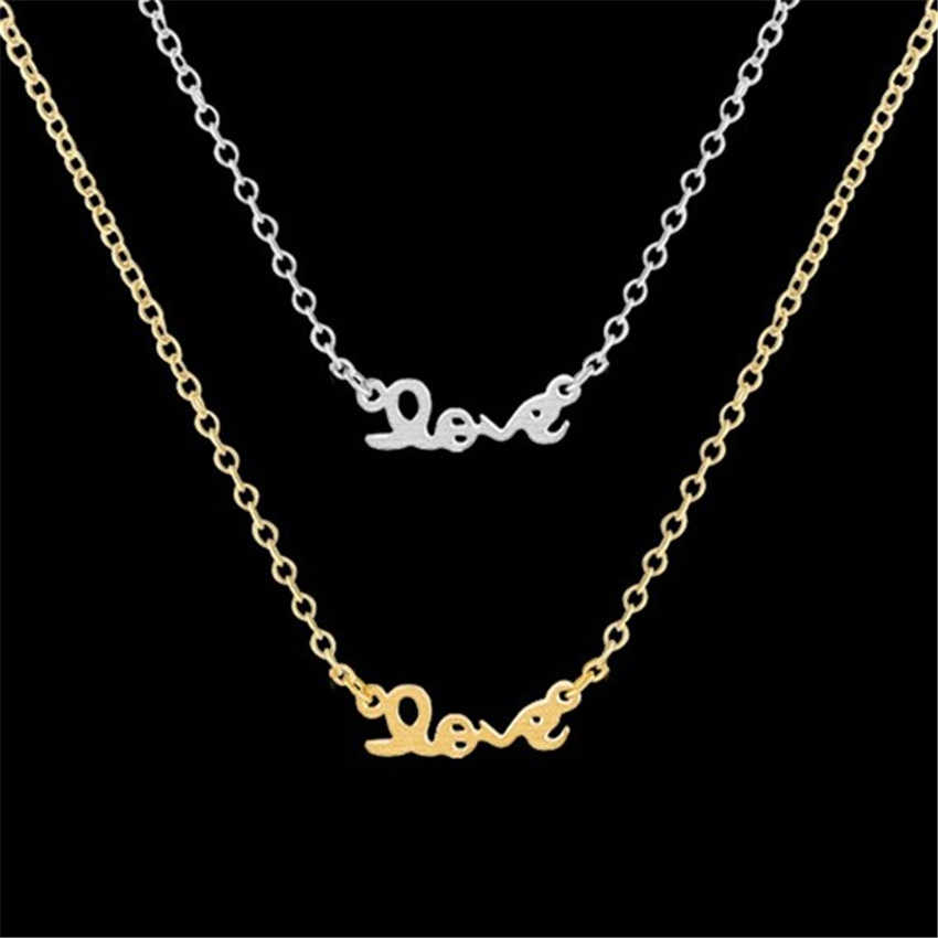 Stainless Steel Letter Aloha Pendant Necklace Link Chain Personalize Alphabet Love Necklaces Women Kids Jewelry Best Friend Gift