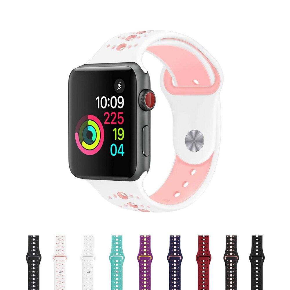 Bracelets de Sport pour Apple bracelet de montre 42 MM/38 MM/44 MM/40 MM bracelet poignet ceinture bracelet de montre pour IWatch Series 4 3 2 1 accessoires de montreBracelets de Sport pour Apple bracelet de montre 42 MM/38 MM/44 MM/40 MM bracelet poignet ceinture bracelet de montre pour IWatch Series 4 3 2 1 accessoires de montre