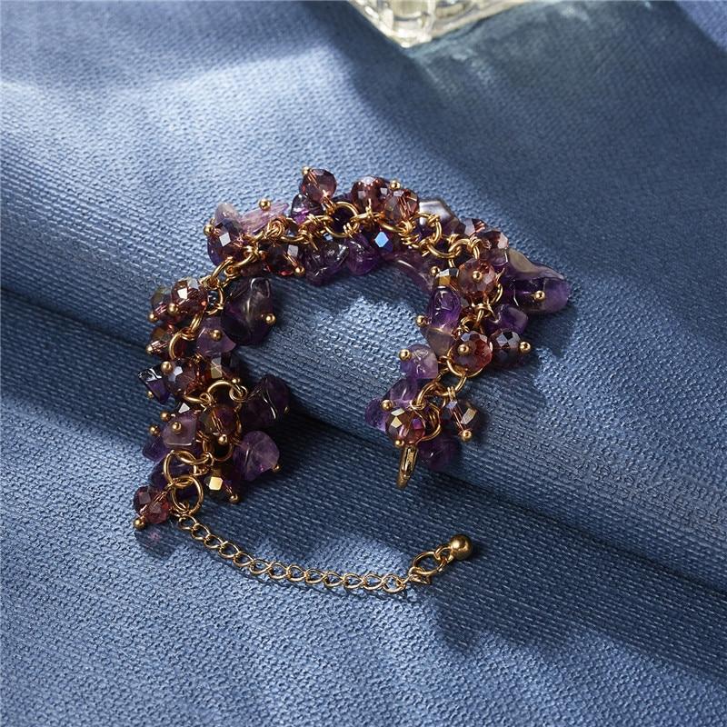Rinhoo 1 шт. ручной работы Модный популярный красочный нестандартный женский браслет-амулет с цепочкой