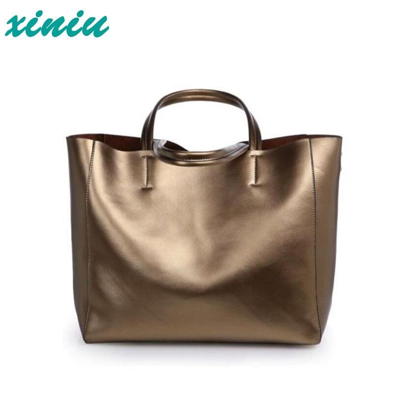 ФОТО xiniu Autumn and Winter Fashion Brand Designer Leather Handbag Large Bag Female Leather Shoulder Bag Large Capacity Shopping Bag