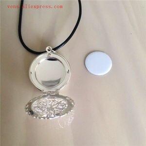 Image 3 - Sublimazione medaglione nuovo round collane pendenti in bianco di stampa a trasferimento termico delle donne del pendente della collana di consumo 15 pz/lotto