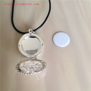 Image 3 - sublimation locket new round necklaces pendants blank thermal transfer printing women  necklace pendant consumables 15pcs/lot