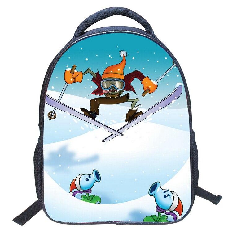 2016 New Cartoon Student Children Backpack Bags Book Bags Plants vs. Zombies Mochila for Kids Boys Girls