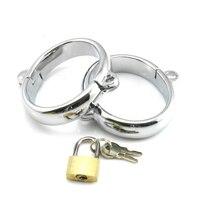 Metal esposas para sexo con cerradura oval aleación delicada BDSM handcffs bondage restrain adultos juegos juguetes sexuales para parejas