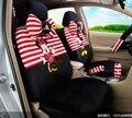 Estilo do carro preto vermelho bege Mickey & Minnie mouse acessórios para assentos de carro tampas de assento do carro conjunto universal barato
