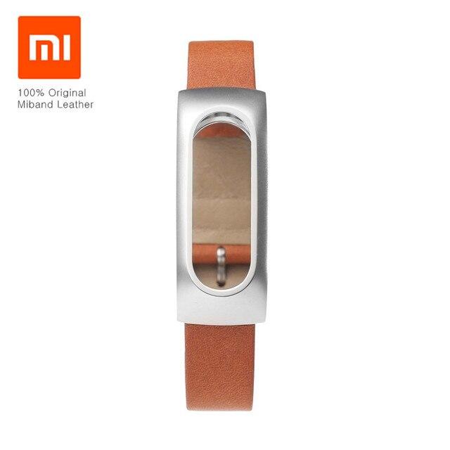 Original Xiaomi Mi band Smart Bracelet Genuine Leather Wrist Strap Belt Wristband For MiBand