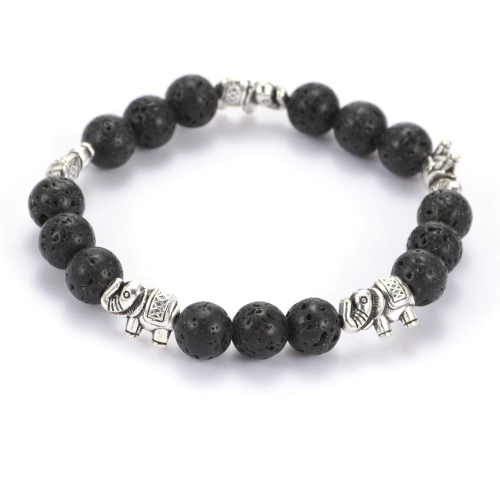 New Arrivals Fashion Vesuvianite Stone Beaded Bracelet High Quality Elephant Chamrs Bracelet for Women Jewelry SZ0411 ...
