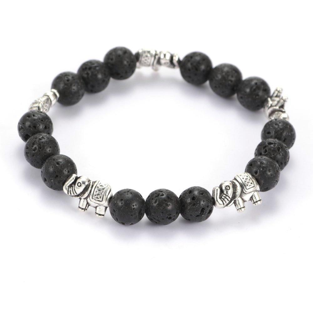 New Arrivals Fashion Vesuvianite Stone Beaded Bracelet High Quality Elephant Chamrs Bracelet for Women Jewelry SZ0411 ...