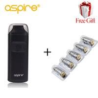 Electronic Cigarette Aspire Breeze Stater Kit + 5pcs 0.6ohm Aspire Coils 2ml Capacity Built in 650mAh Battery E Cigarette Kit