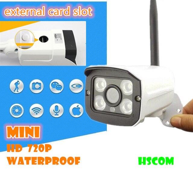 Камера WI-FI Мегапиксельная 720 P HD Открытый Беспроводной Безопасности CCTV IP Cam Ик-Слот Для Карты SD P2P Пуля Ночного Видения водонепроницаемый