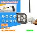 Camera WIFI Segurança CCTV IP Megapixel 720 p HD Sem Fio Ao Ar Livre Slot Para Cartão SD P2P Bala Cam IR Infrared Night Vision à prova d' água