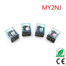 цена на OMRON MY2P HH52P MY2NJ Relay Coil General DPDT Micro Mini Electromagnetic Relay Switch with LED AC 110V 220V DC 12V 24V