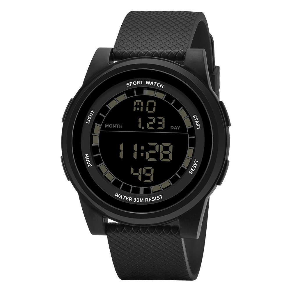 2019 новые SANDA супер тонкие цифровые часы мужские водонепроницаемые 3ATM ультра