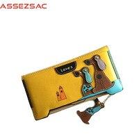 Assez Sac Fashion Animal Prints Women Wallet PU Leather Women Concise Dogs Casual Girls Versatile Popular