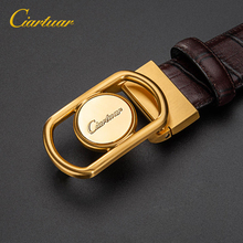 2020 ciartuar official store new design belt high quality for men genuine leather first layer luxry brass buckle free shipping