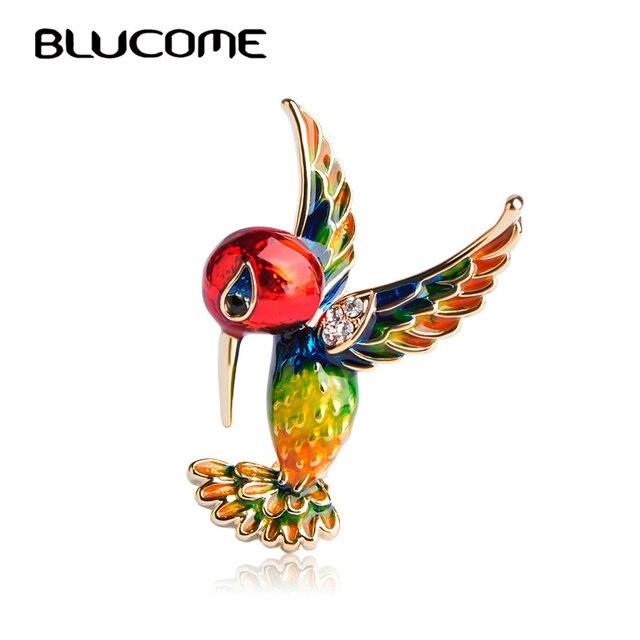 Blucome สีแดงนกเข็มกลัดเข็มกลัดสำหรับผู้หญิงเด็ก Gold - สีจัดเลี้ยงตกแต่งเครื่องแต่งกาย Magpie เข็มกลัดสัตว์เสื้อผ้าเครื่องประดับ