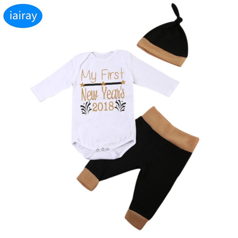 iairay 3pcs infant boy clothing set baby bodysuit jumpsuit cotton hat baby boy summer clothes toddler casual pants boys trousers