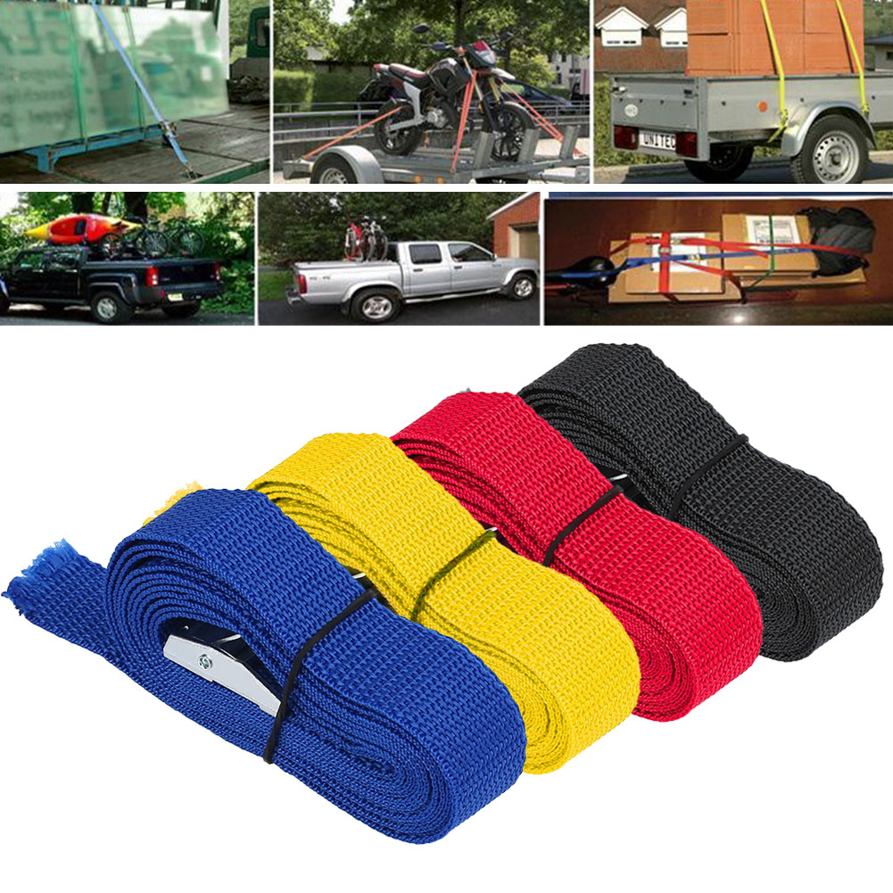 2.5M Car Fixed Strap Tie Luggage Belt Tension Rope With Alloy Buckle 4 Color