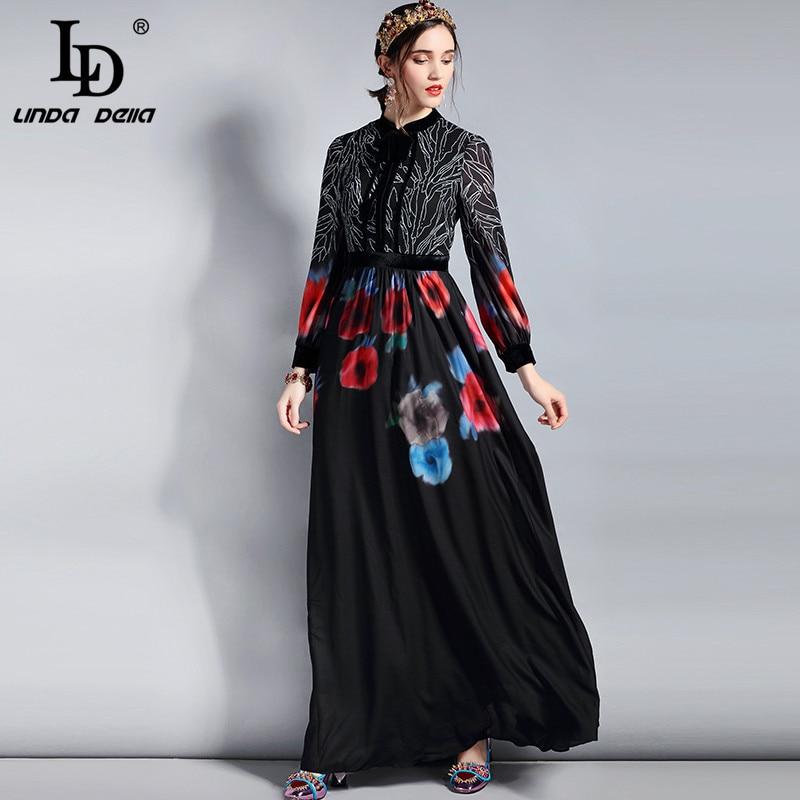 LD LINDA DELLA Spring Fashion Designer Maxi Dress Women