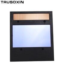 цена на Big view area 4 arc sensor Solar Auto darkening filter tig mma mig welding helmet/face mask/Electric welder mask filter lens