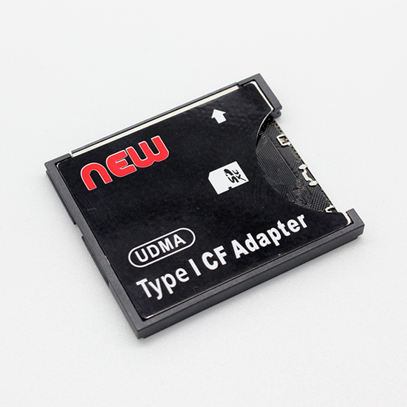 CAA-WiFi SD SDHC SDXC To CF Type I Compact Flash Memory Card Adapter Reader Connector 4GB-128GB