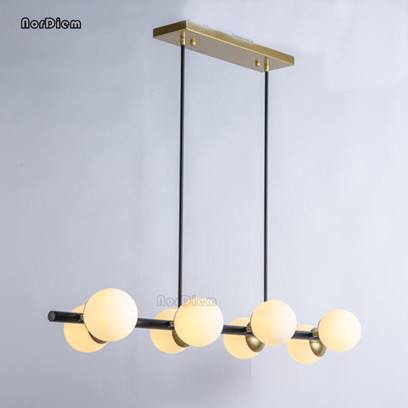 Modern Glass Ball LED Pendant Lights for Living room Nordic Magic Bean Dinning hanging Light G9 LED Milk Glass Pendant Lamp