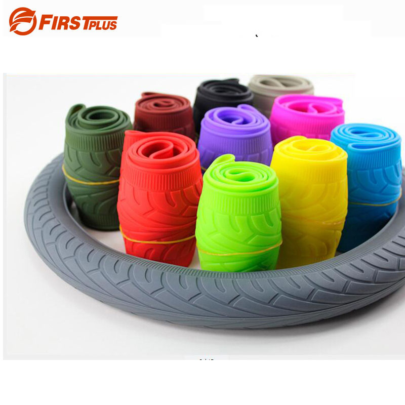 Soft Silicone Car Steering Wheel Cover Anti-slip Breathable Four Seasons General Silica Gel Wheel Cover For BMW Mini Smart